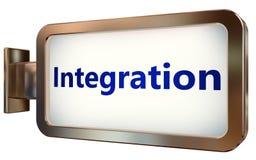 Integration on billboard background. Integration wall light box billboard background , isolated on white Stock Photography