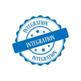 Integration stamp illustration. Integration blue stamp seal illustration design Royalty Free Stock Photo