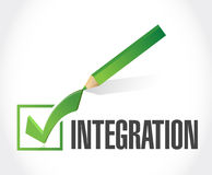 Integration check mark sign illustration Royalty Free Stock Photo