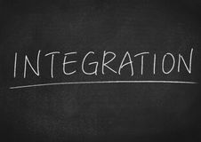 Integration. Concept word on blackboard background Stock Image