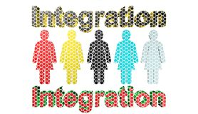 Integration,3D illustration Stock Photography
