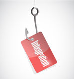 Integration hook tag sign illustration Royalty Free Stock Photography