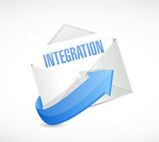 Integration mail sign illustration design Royalty Free Stock Photo