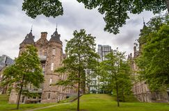 Integration of modern and medieval architecture in Edinburgh Sco. Modern and medieval architecture in Edinburgh Scotland Stock Image