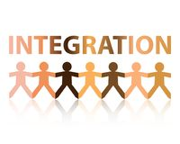 Integration Paper People Stock Images