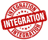 Integration red grunge stamp Royalty Free Stock Photos