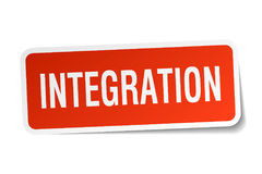Integration square sticker Royalty Free Stock Image