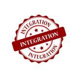 Integration stamp illustration. Integration red stamp seal illustration design Stock Photos
