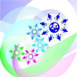 Integration-symbol illustration Royaltyfria Bilder