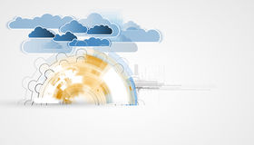 Integration technology with nature, sky. Best ideas for Business Stock Image