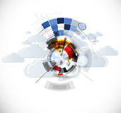 Integration technology with nature, sky. Best ideas for Business Stock Images
