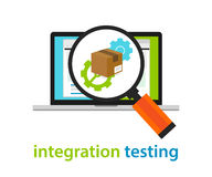 Integration testing software architecture process coding programming application review. Vector Stock Photo