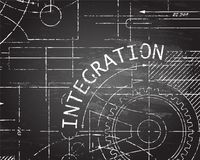 Integration Blackboard Machine Royalty Free Stock Images