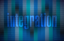 Integration text illustration. Over a binary background Royalty Free Stock Photography