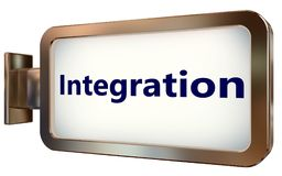 Integration on billboard background. Integration on wall light box billboard background , isolated on white Stock Image