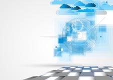 Integrationsteknologi med naturen, himmel Mest bra idéer för affär Arkivfoto