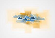 Integrationsteknologi med naturen, himmel Mest bra idéer för affär Royaltyfria Bilder