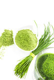 Integratori alimentari naturali verdi. fotografie stock libere da diritti