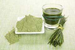 Integratori alimentari verdi. immagine stock