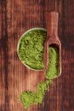 Integratori alimentari verdi. fotografia stock