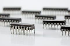 integrerad microchip för strömkrets Arkivfoto