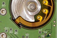 Integrerat - strömkrets som används i elektronik arkivfoto