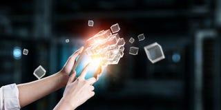 Integrerende nieuwe technologieën Stock Fotografie