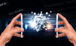 Integrerende nieuwe technologieën Stock Afbeeldingen