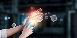 Integrerende nieuwe technologieën Stock Afbeelding