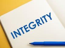 Integridad, concepto de motivaci?n de las citas de las palabras imágenes de archivo libres de regalías