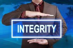 Integridad, concepto de motivaci?n de las citas de las palabras imagen de archivo