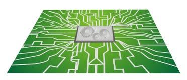 Integrierte Schaltung steigt CPU ein stockbilder