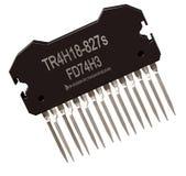 Integrierte Schaltung von Digitalrechnerteilen Logikelektronischer Mikrochip lizenzfreie stockfotos