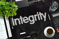 Integrität auf schwarzer Tafel Wiedergabe 3d Lizenzfreie Stockbilder