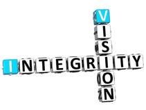 Integritäts-Kreuzworträtsel der Visions-3D Stockfotos