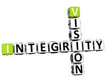 Integritäts-Kreuzworträtsel der Visions-3D Lizenzfreie Stockfotos