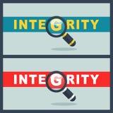 Integriteitswoord met meer magnifier concept vector illustratie
