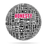Integrity. In word cloud with several positive qualities and characteristics Royalty Free Stock Photography