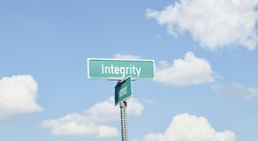 Integrity and Honor Cloud Background Royalty Free Stock Photo