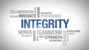 Integrity - animated word cloud