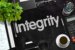 Integrity on Black Chalkboard. 3D Rendering. Royalty Free Stock Images