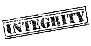 Integrity black stamp Royalty Free Stock Photo