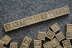 Integrity blocks Royalty Free Stock Images