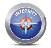 Integrity compass concept. Illustration design over white Royalty Free Stock Photography