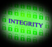 Integrity Data Represents Bytes Facts And Decency Royalty Free Stock Image