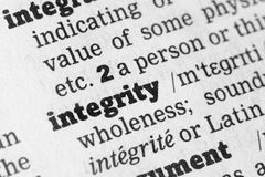 Integrity  Dictionary Definition Royalty Free Stock Images