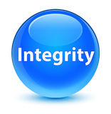 Integrity glassy cyan blue round button Royalty Free Stock Photography
