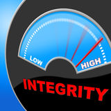 Integrity High Shows Trust Decency And Inflated. Integrity High Indicating Virtue Lots And Righteousness Royalty Free Stock Photo