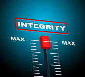 Integrity Max Means Upper Limit And Sincerity Stock Photography