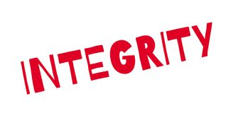 Integrity rubber stamp Stock Photo